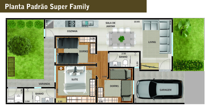 Village Tokio Site Planta Padrão Super Family